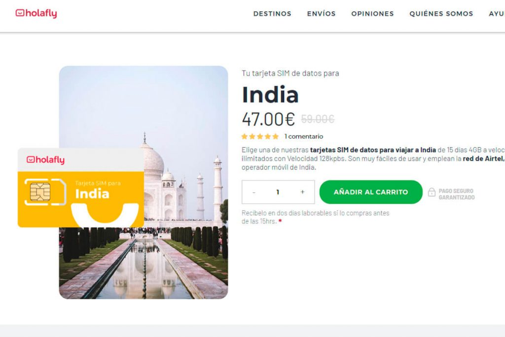 tarjeta sim india