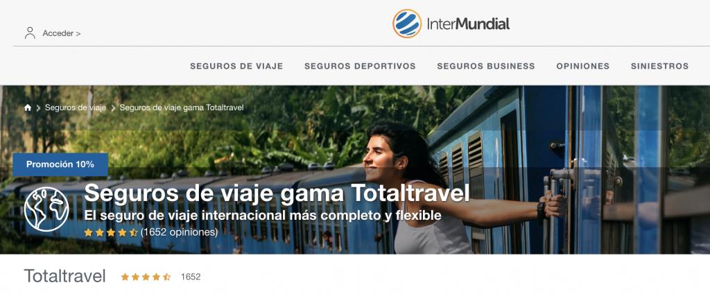 Seguros de viaje Intermundial