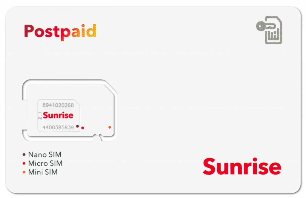Tarjeta SIM Sunrise