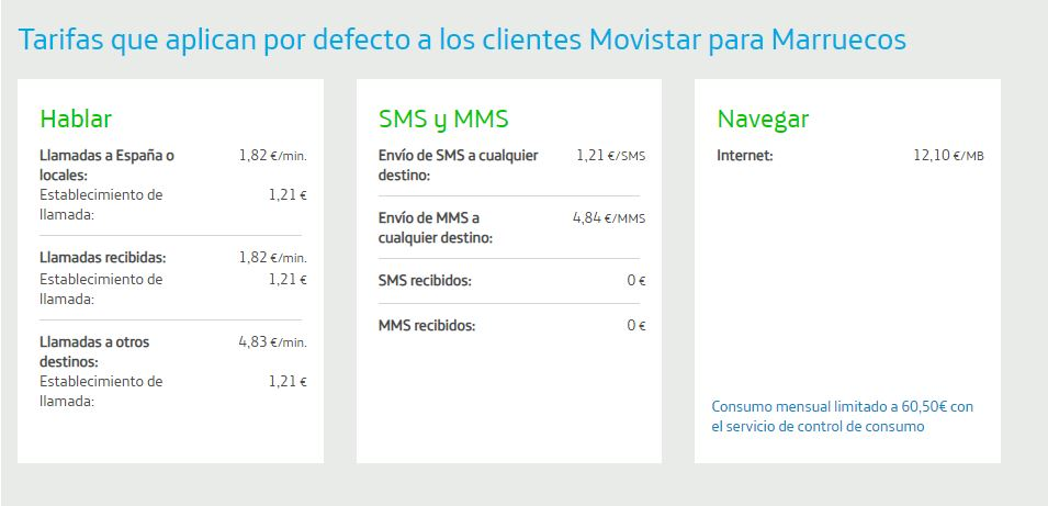 roaming movistar marruecos
