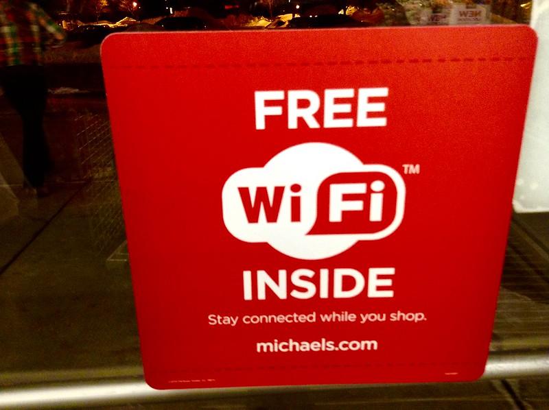 wifi gratis en tienda